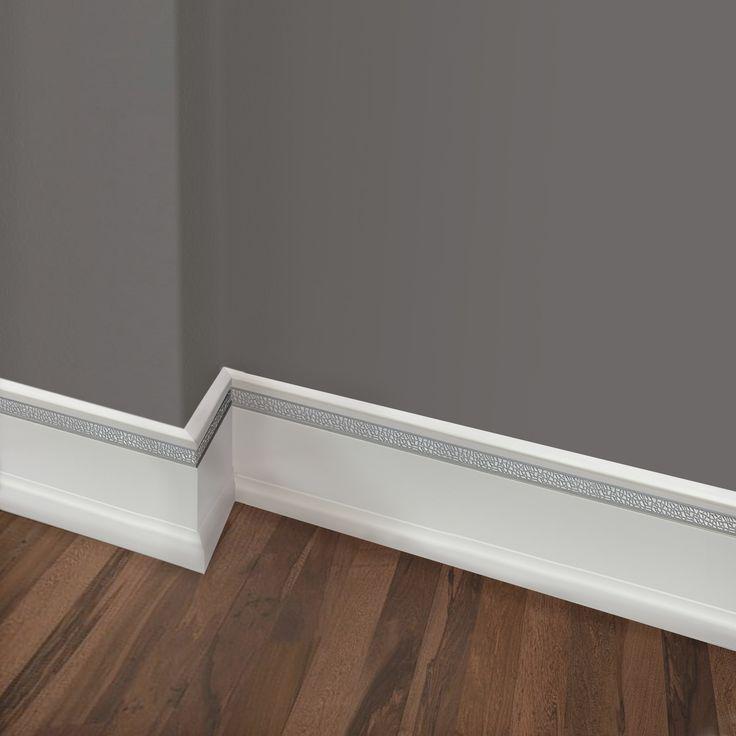 60 ft. Textured Baseboards Polystyrene Base Moulding #60104