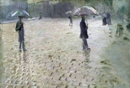 Gustave CAILLEBOTTE  Study for a Paris street  Rainy day
