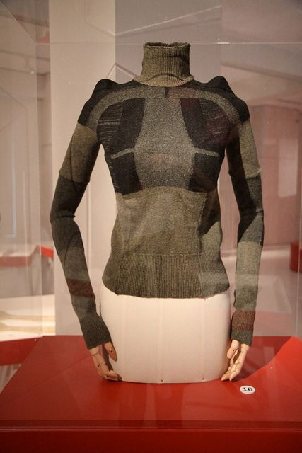 Marti Margiela, Woolen sweater made from military socks; A/W 1991-2  Momu Antwerp.