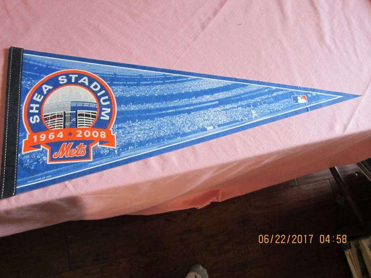 2008 Mets Shea Stadium baseball pennant