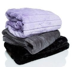 faux fur blankets or pillows from Five Below $5.00