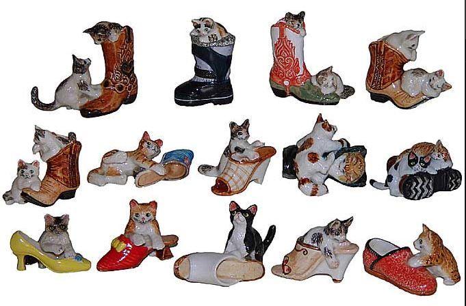Котята играют с обувью.Миниатюрные статуэтки из Франции, ручная роспись. Поставки под заказ раз в две недели, постоянно обновляемая коллекция в наличии в шоуруме. По вопросу покупки пишите whats app 89503167416, доставка во все регионы России