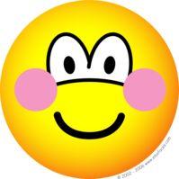 Blushing emoticon embarrassed