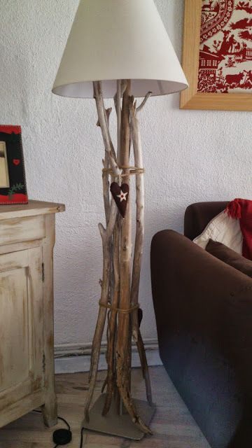 Drift wood lamp - IKEA Hackers - This is what we'll do with the leftover wood pieces from the reception!!!