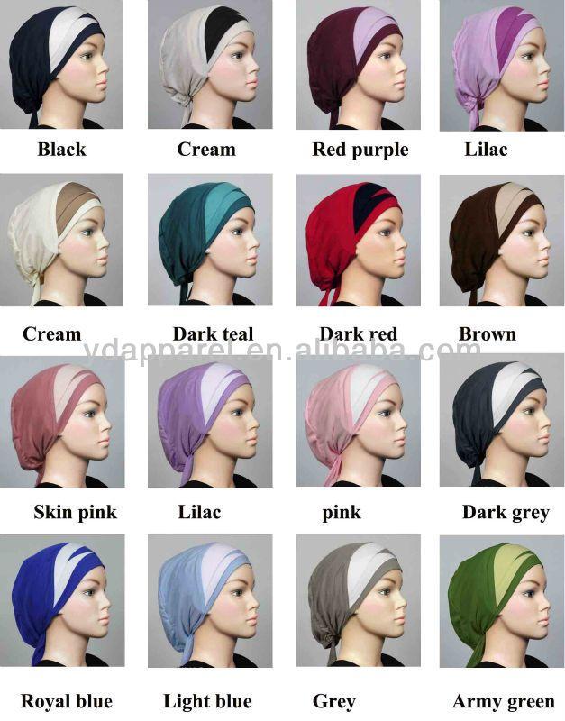 Overcross hijab cap muslim bonnet turban back tie Underscarf-manufacturer $0.5~$2.2