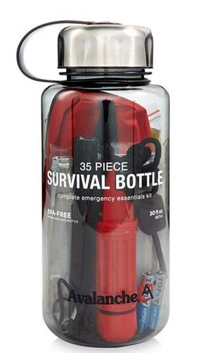 36 piece survival bottle