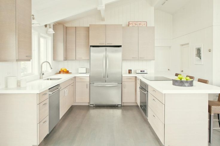2097 best kitchen images on pinterest kitchen for Galley kitchen without upper cabinets
