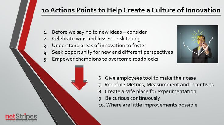 10 Actions points to help create a culture of innovation.