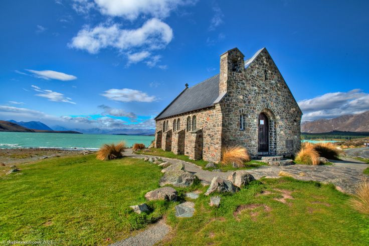 Church of the Good Shepherd, Lake Tekapo, New Zealand. I picked a stone from the shore behind this church and brought it home with me.