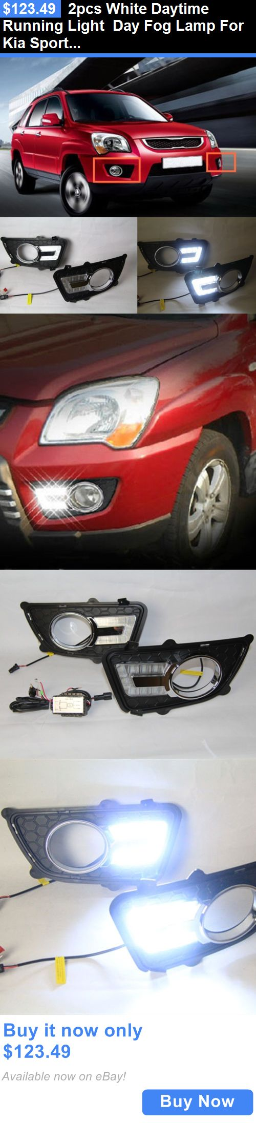 10 best sportage ideas images on pinterest kia sportage motors parts and accessories 2pcs white daytime running light day fog lamp for kia sportage sciox Image collections