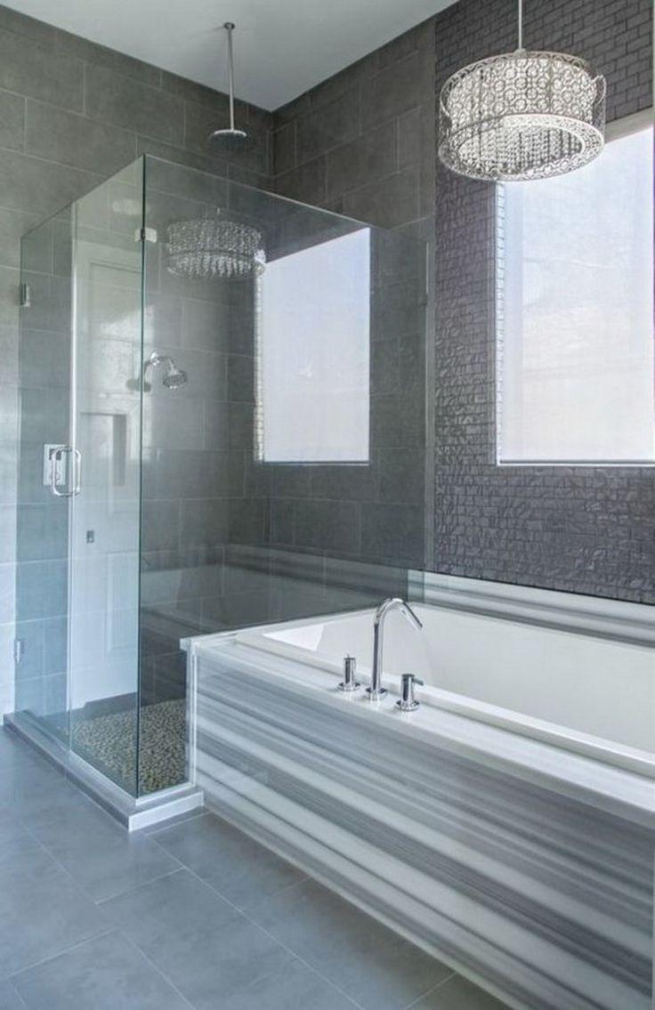 Grey and white bathroom design - 26 Trending Luxury Master Bathroom Designs This Elegant Gray And White