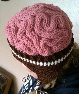 brain hat template - free pattern crochet brain hat crochet things