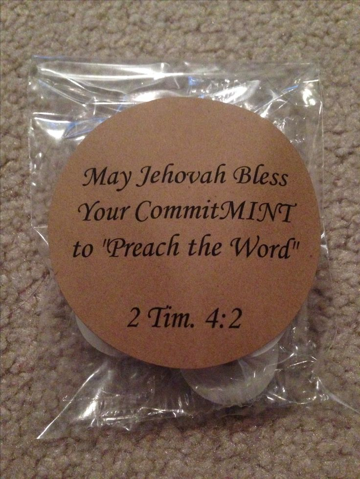 This is a wonderful idea for little gifts or party favors to give to fellow Christians who do the volunteer ministry that Jesus commanded his followers to do at Matthew 28:19 & 20.