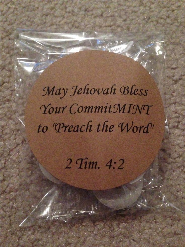 Mint Pioneer school gifts #jw #pioneers #candy