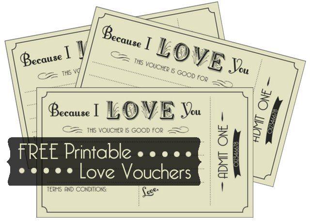 Free Printable Love Vouchers