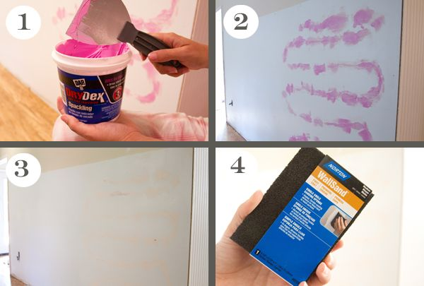 fixing drywall blemishes