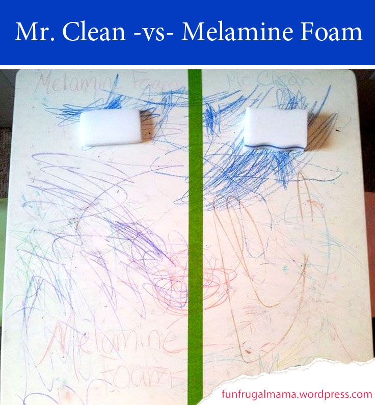 Mr. Clean Magic Eraser (.87 to 1.49 each) vs. Melamine Foam (.07 to .49 each)... Editor's Note: Since the experiment, we continue to use the Melamine Foam for most cleaning projects. We do, however, use Mr. Clean Magic Erasers for difficult cleaning as it is more durable.… Check with a local hardware store (special order?), Amazon.com, or search janitorial supplies.