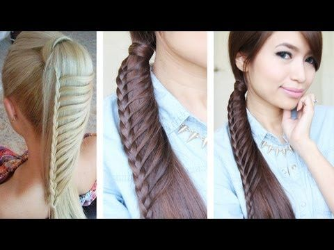 How to: Ladder Braid Hair Tutorial ♥ Thumbs up if you likey :)  ♥ Learn how to do more cute hairstyles: http://www.youtube.com/playlist?list=PLD4D5DE6CCCF00AF4    Hey guys, this hair tutorial will show you how to create a ladder braid ponytail as seen on interest, tumblr, and weheartit. :) This is a cute, everyday hairstyle that can be worn as a si...