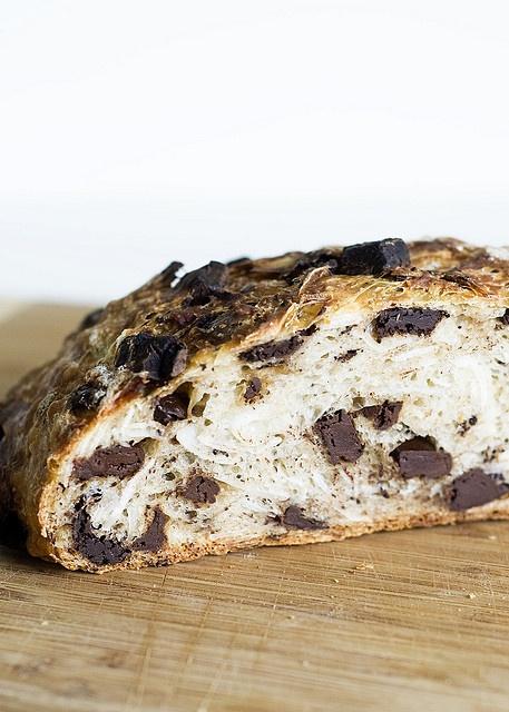 Coconut Chocolate No-Knead Bread