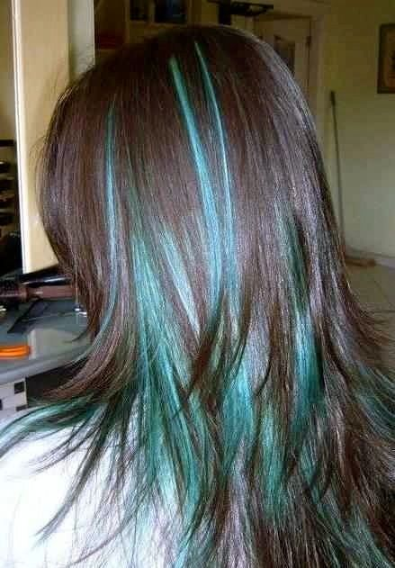 Ombre Teal Blue: Ombre hair coloring in teal and blue with little bits of turquoise. Description from pinterest.com. I searched for this on bing.com/images