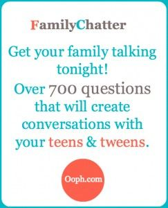 Family Chatter: Flying Cars, Alarm Voices and Bacon -  Get your tweens and teens talking with these fun Qs!
