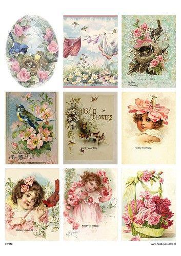 vintage sheet 13 birds