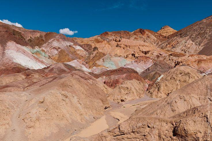 Долина Смерти: город приведений, палитра художника, Badwater, Dante View