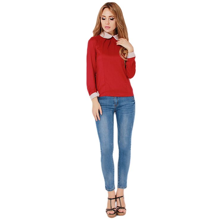 Cheap blouse manufacturers, Buy Quality blouse cutting directly from China blouse shirt Suppliers: New 2016 T Shirt Women Fashion Brand Long Sleeve Sexy Lace Crochet T-Shirt Embroidery Slim Casual Tops Plus Size DP86117