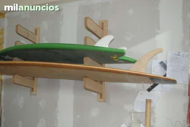 . Hola realizamos soportes en madera para tablas de surf, soportan 4 en horizontal  7 tablas en vertical,  tablas de diferentes modelos...tambien realizamos otros objetos decorativos en madera mesas ,percheros, espejos y todo lo que nos pidas, relacionado c
