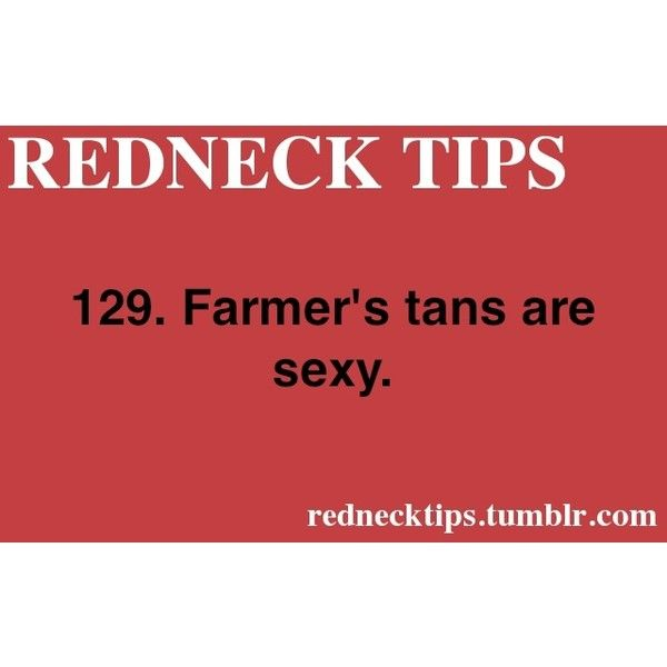 REDNECK TIPS found on Polyvore