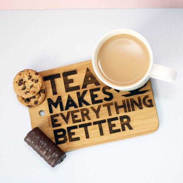 Who needs a cheeseboard when you can have this TEA board? | 37 Delightful Products Every Tea Lover Needs In Their Kitchen