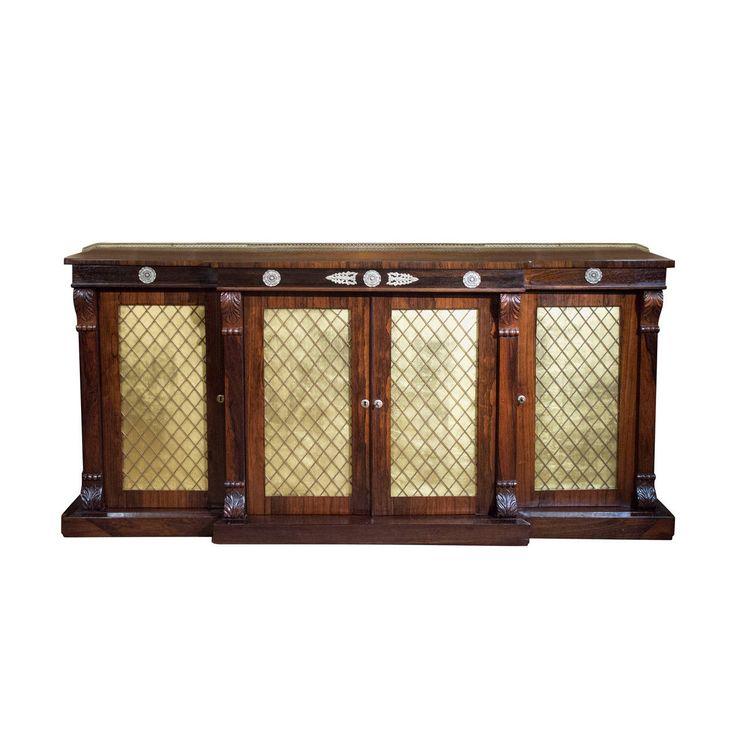 Regency Rosewood Credenza Or Cabinet, Circa 1820