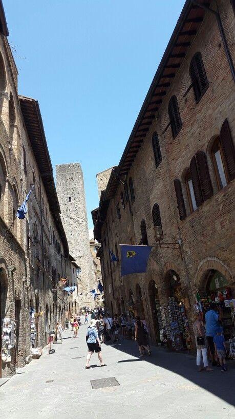 Italy Street of San Gimignano