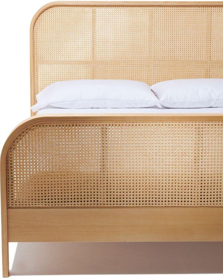 Cane Queen Bed in 2020 King bed frame, Queen beds