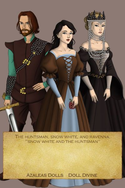 Snow White, Huntsman, Ravenna ~ by bleedingrose ~ created using the Tudors doll maker | DollDivine.com
