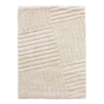 Alfombra líneas blanca 160x230 cm