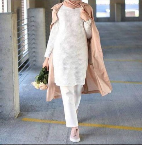 neutral jacket hijab outfit