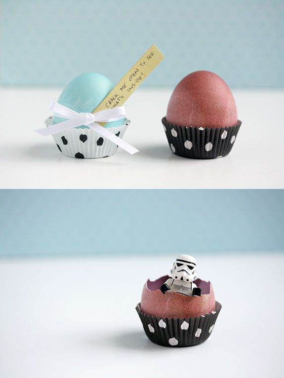 DIY Easter Egg Surprises. How fun! Fill them with any treats, money, candy, special notes, glitter, confetti...