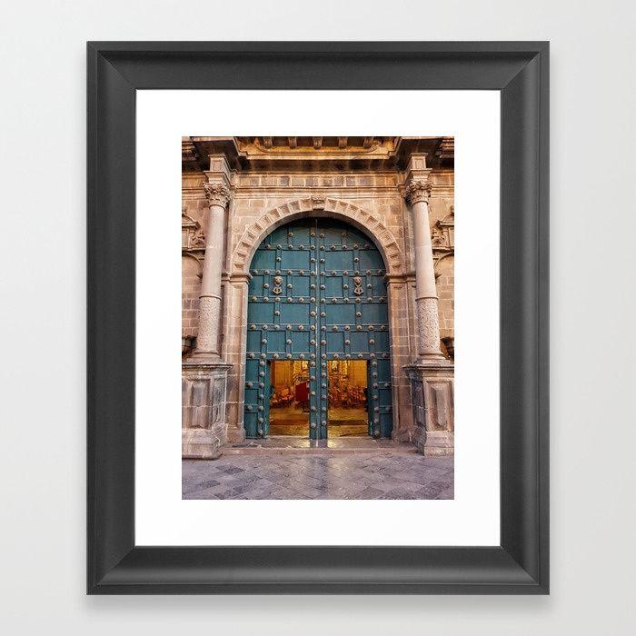 Faith Opens Doors Framed Art Print