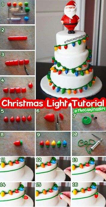 Lights on a cake tutorial