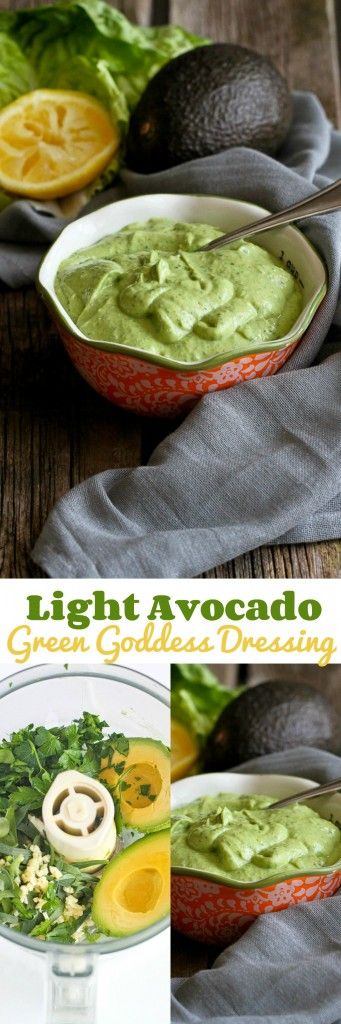 Light Avocado Green Goddess Dressing…A mayo-free version of a classic dressing, with creamy avocado! 66 calories and 2 Weight Watcher SmartPoints!