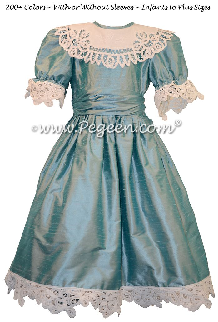 Adriatic Blue Clara Nutcracker Party Scene Dress by Pegeen
