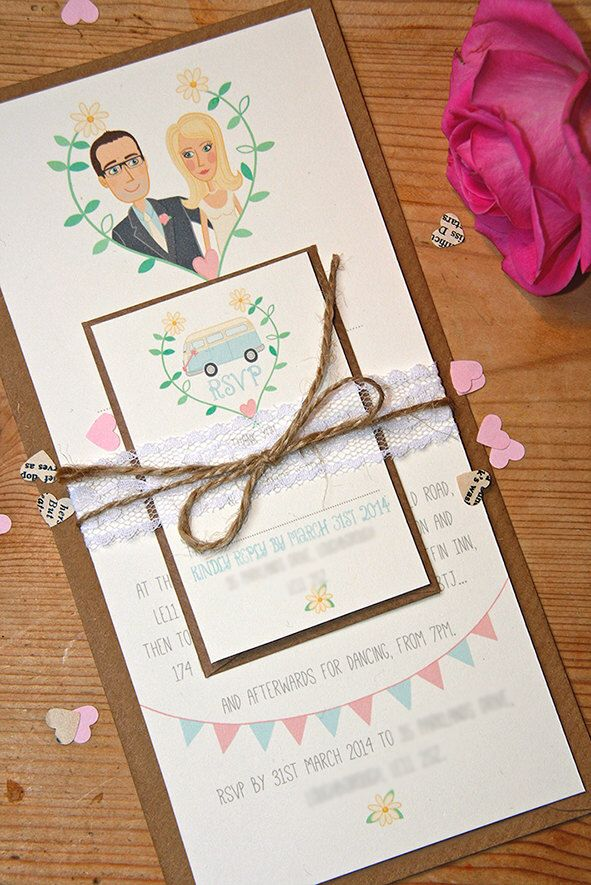 A personal favourite from my Etsy shop https://www.etsy.com/uk/listing/181081364/bespoke-wedding-invitations-stationery