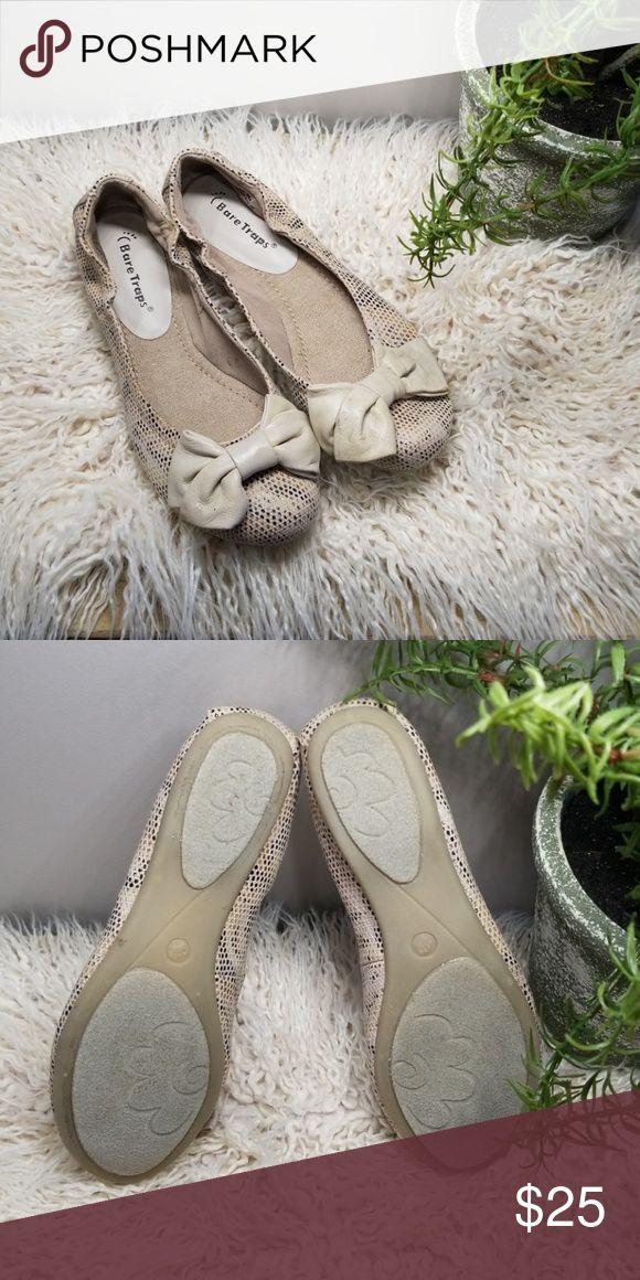 04b4abc07f8 BNIB Bare Traps Lucy Stone Canvas Ballet Flats Cute flat with tan mesh