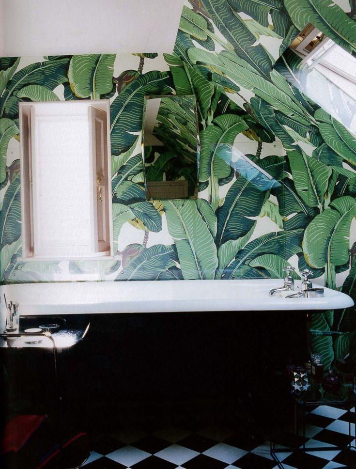 Papier peint décoratif salle de bain