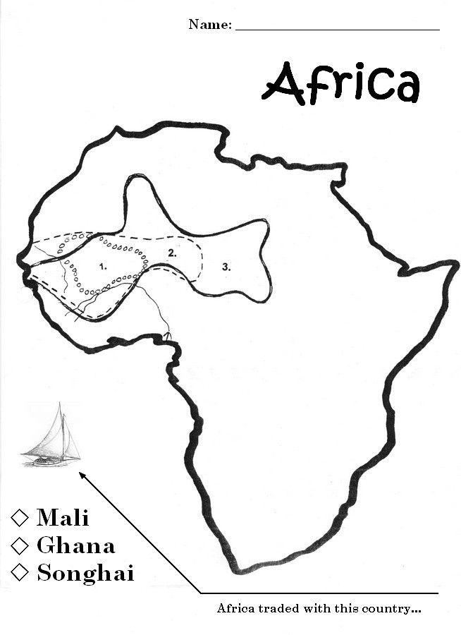 Songhai Africa Map.Mali Songhai Map Ghana Africa