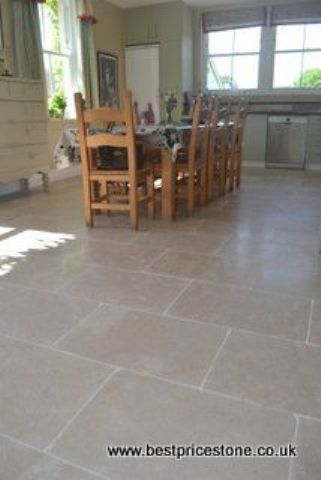 Dijon Tumbled Limestone floor tile