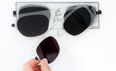 3D stickers for glasses