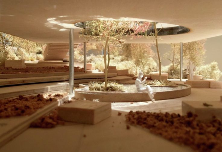 Image 1 of 5. Model of proposed Maggie's Centre in Oldham, UK. Image © dRMM