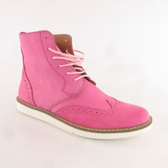 Heine Ankle Boot Pink Leather Size 41 Womens Shoes Boots NEW with defects   eBay